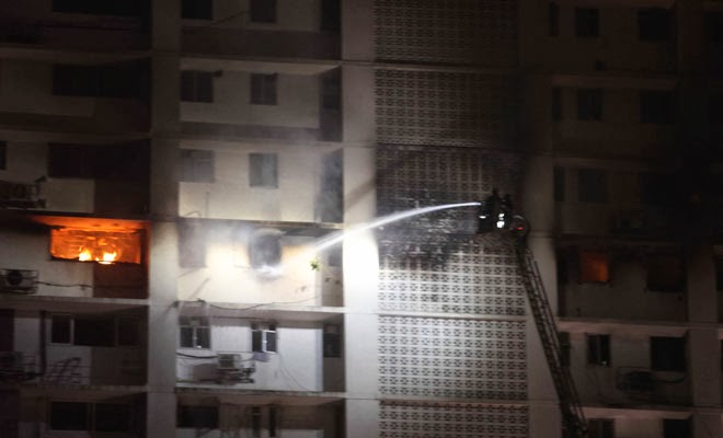 Photo of Seven dead as fire breaks out on 12th floor of south Mumbai building
