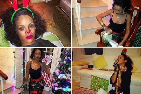 Photo of MerRI Christmas: Rihanna shows us what it is like to be round hers for festive season