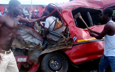 Photo of Fatal accident claims two lives, injures scores