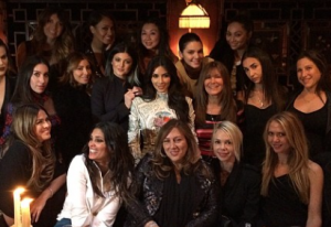 """Photo of Kim Kardashian Has """"Last Supper"""" With Girlfriends, Bachelorette Party in Paris Before Wedding"""