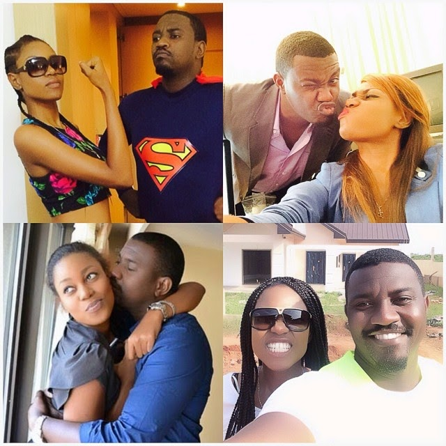 """Photo of Yvonne Nelson tells John Dumelo; """"You need security around you"""""""