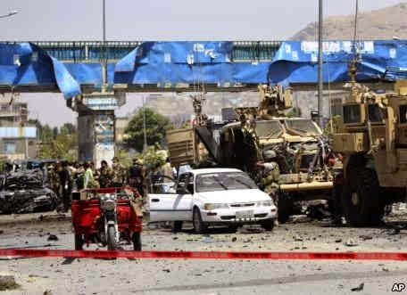 Photo of Suicide Bomber Attacks NATO Convoy in Kabul