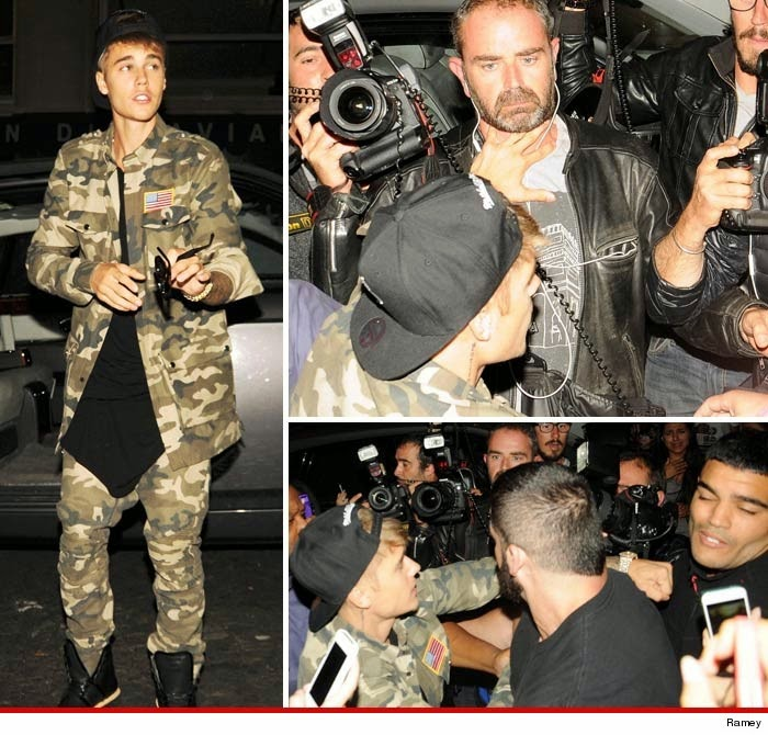 Photo of Justin Bieber –Punching Paps in Paris (PHOTOS)