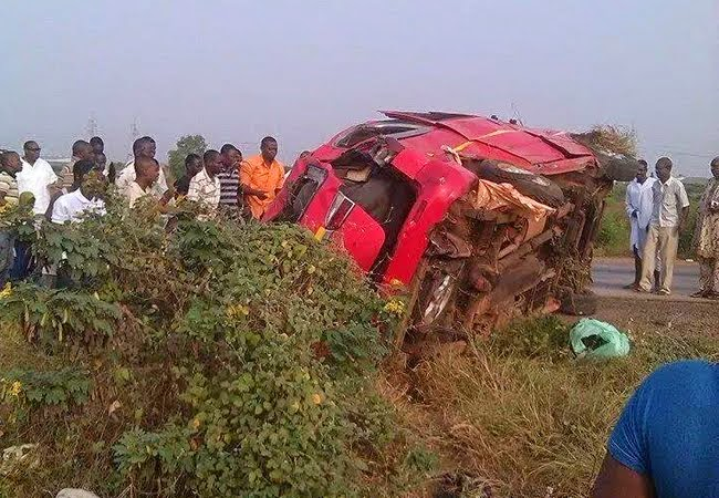 Photo of Christmas Day accident on Tema Motorway; 5 feared dead