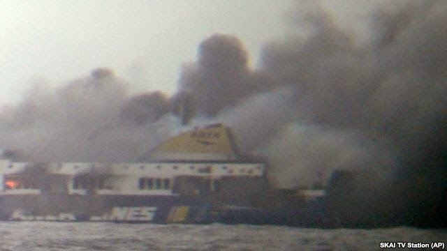 Photo of At Least 1 Dead in Greek Ferry Fire; Hundreds More Remain Trapped