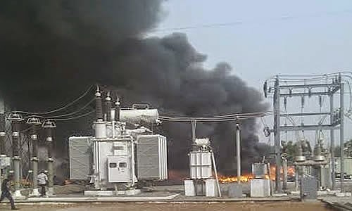 Photo of Store at Aflao GRIDCo sub-station up in flames