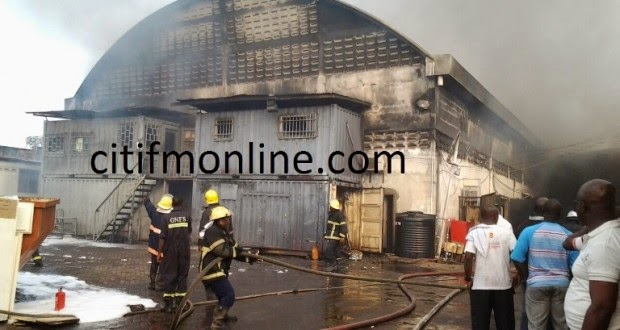 Photo of Melcom service centre gutted by fire