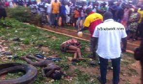 Photo of 2 suspected robbers burnt to death in Kumasi