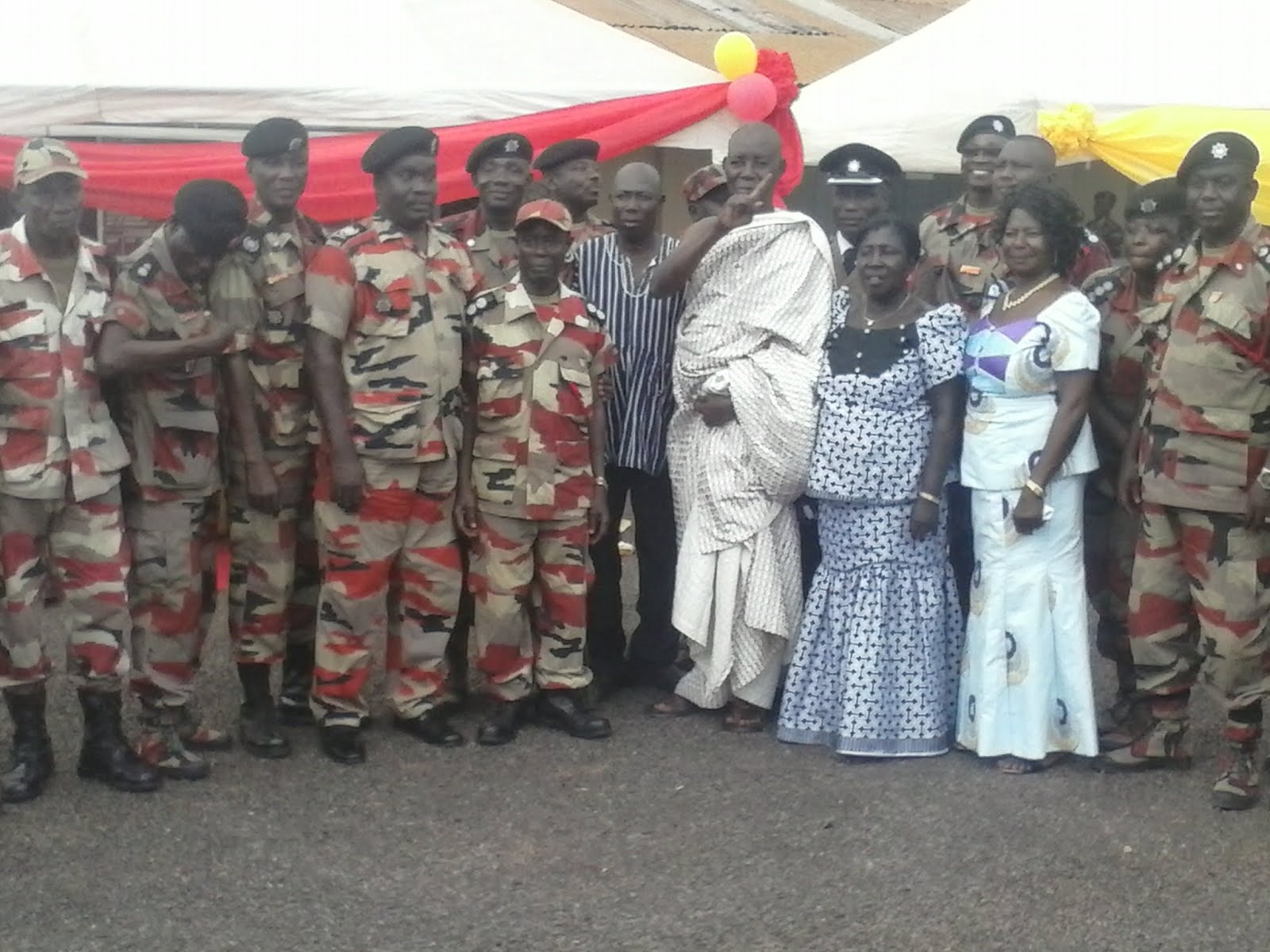 Photo of Brong Ahafo Regional Fire Service Salutes Retired Officers