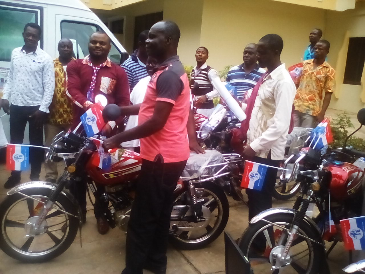 Photo of B/A NPP Regional Organizer Donates Motor Bikes To 8 Constituencies