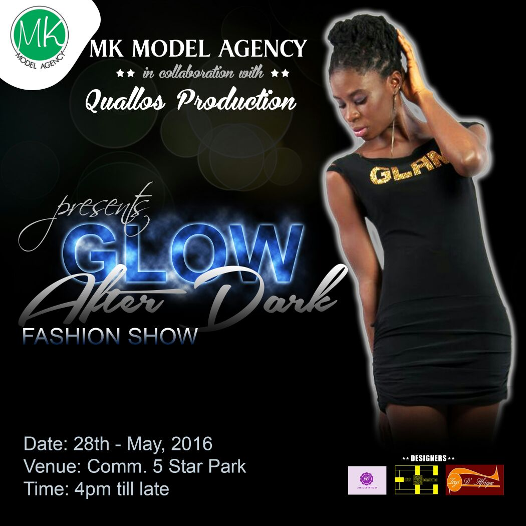 "Photo of MK Model Agency Poised For ""Glow After Dark Fashion Show"""
