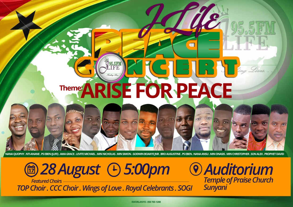 Photo of J Life Peace Concert Slated For August 28
