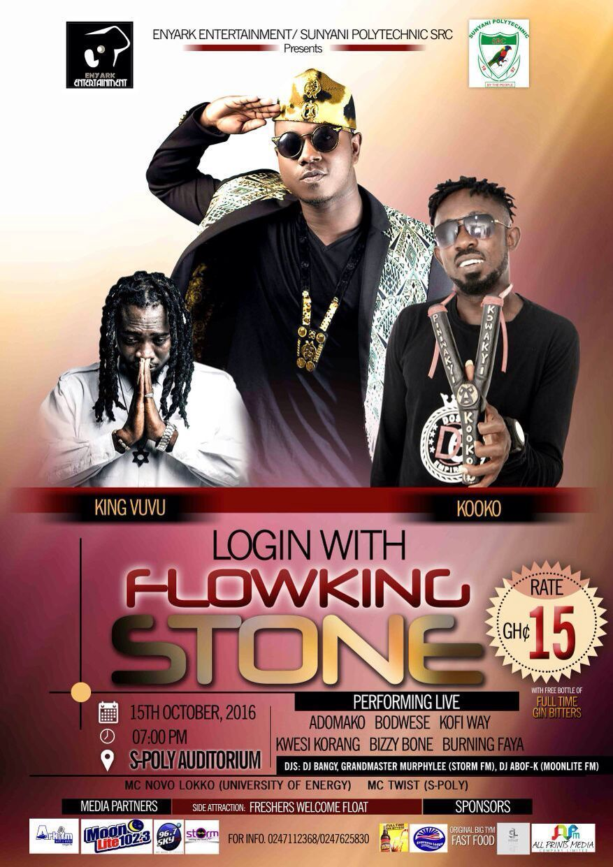 Photo of Sunyani: Login With Flowking Stone To Be Held On Saturday