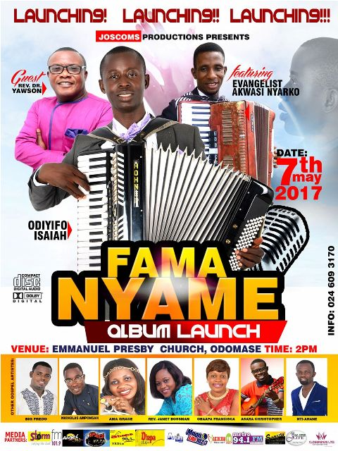 Photo of Odiyifo Isaiah To Launch 'Fama Nyame' Album On May 7