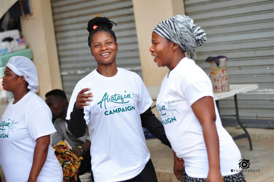 "Photo of Women In Worship ""Akatasia"" Campaign Educates Over 100 Women At The Dome Market"