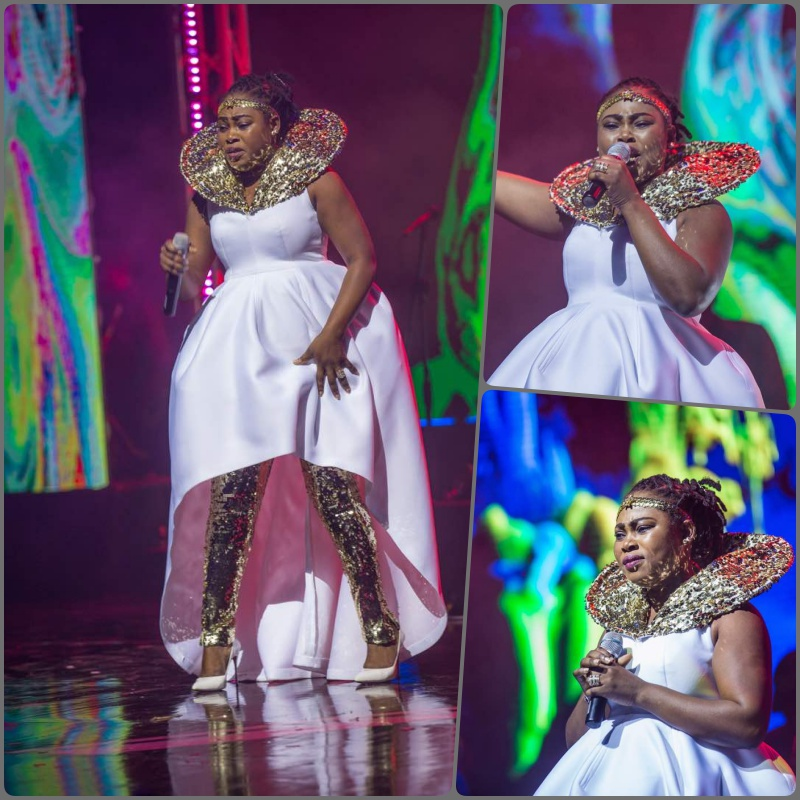 Photo of Pretty Or Nah? See What Joyce Blessing Wore To Becca At 10 Concert