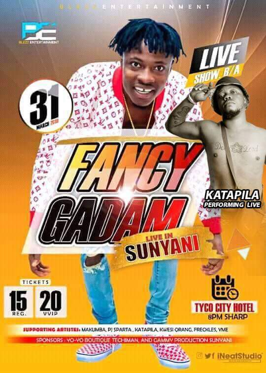 Photo of Nsemonee Katapila, Fancy Gadam, Others To Rock Sunyani On Saturday