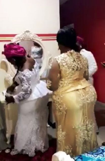 Photo of Viral Video Shows Rev. Owusu Bempah's Wife Taking Alcohol Before Her Wedding