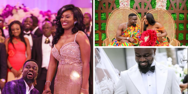 Photo of Finally! Sarkodie Shares 'Official' Photos Of His Wedding With Tracy