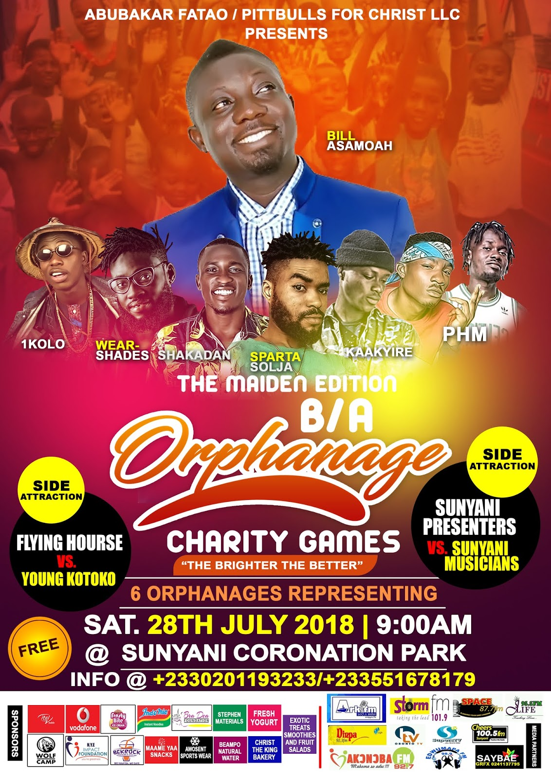 Photo of Sunyani: Maiden B/A Orphanage Charity Games To Be Held On Saturday