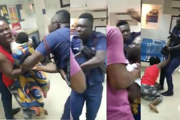 Photo of Ghanaians Go Wild Over A Police Officer Assaulting A Lactating Mother