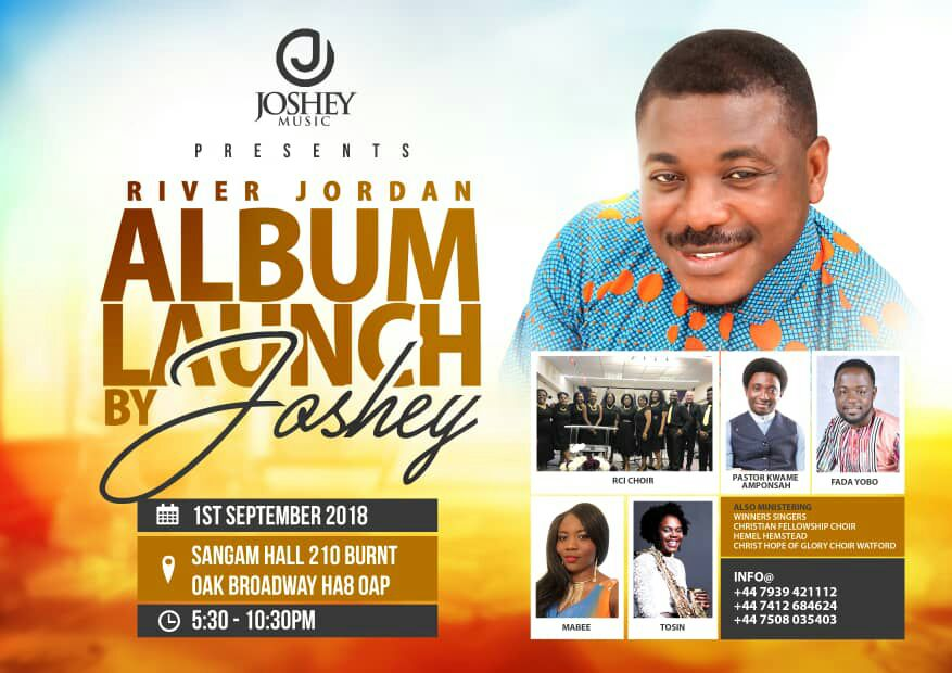 Photo of Joshey To Launch 'River Jordan' Album On September 1 In UK