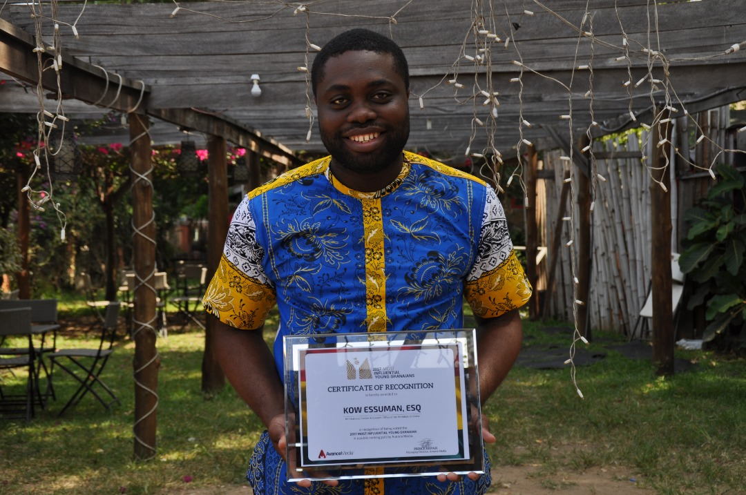 Photo of Kow Essuman Receives 2017 Most Influential Young Ghanaian Award