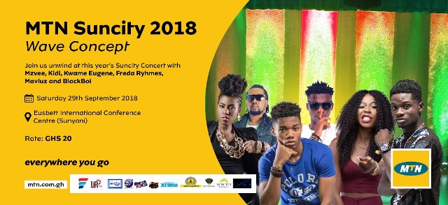 Photo of MTN Suncity Wave Concert: Kuami Eugene, KiDi, MzVee, Freda Rhymz, Katapila, Kooko, Kaasolo, Kueba, Joe Felix, Others To Rock Sunyani