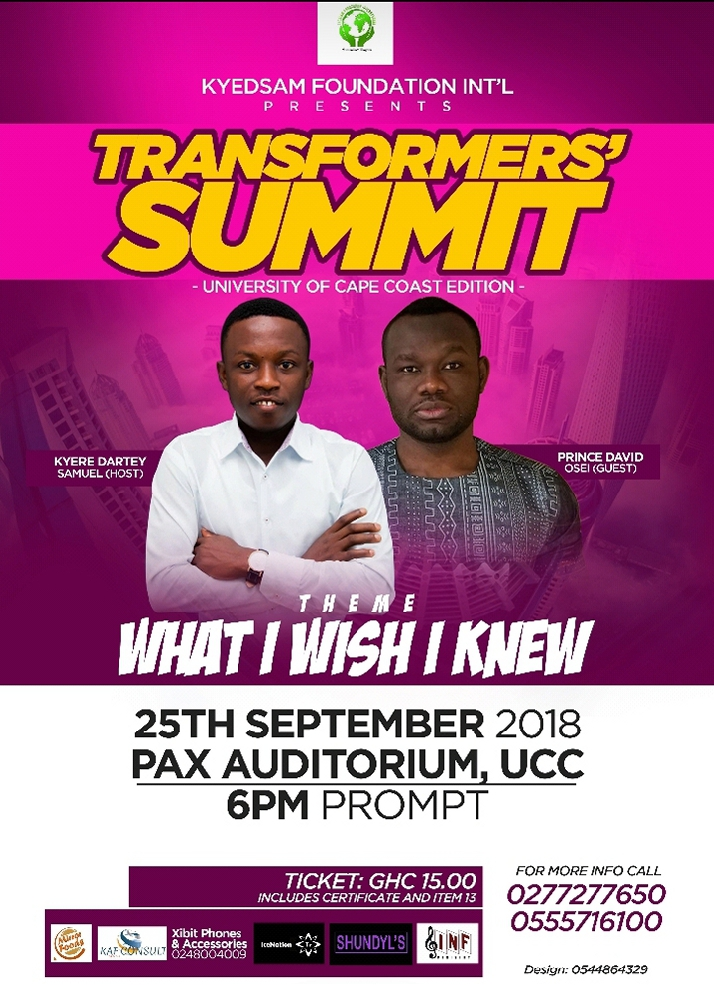 Photo of Prince David Osei To Empower Ghanaian Youth Through Transformers' Summit At UCC