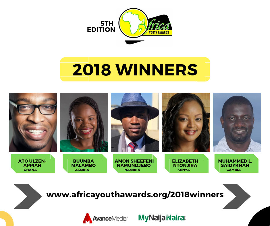 Photo of Ato Ulzen-Appiah & Buumba Malambo Voted 2018 African Youths of the Year