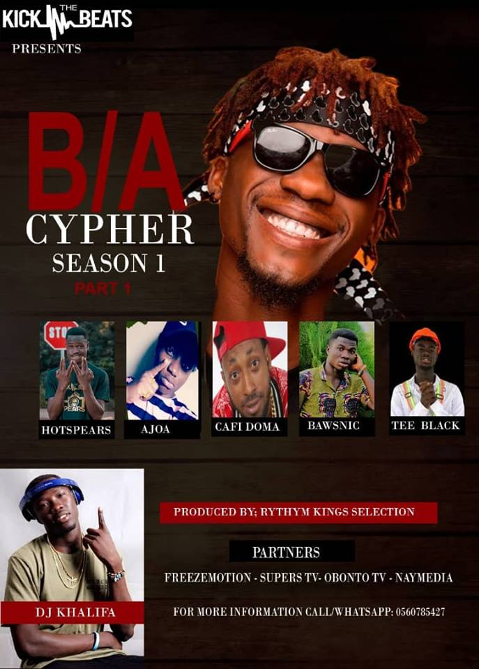 Photo of Tha Blackboi x Hotpears x Ajoa x Cafi Doma x Bawsnic & Tee Black – B/A Cypher 1 (Prod. By Rhythm King)