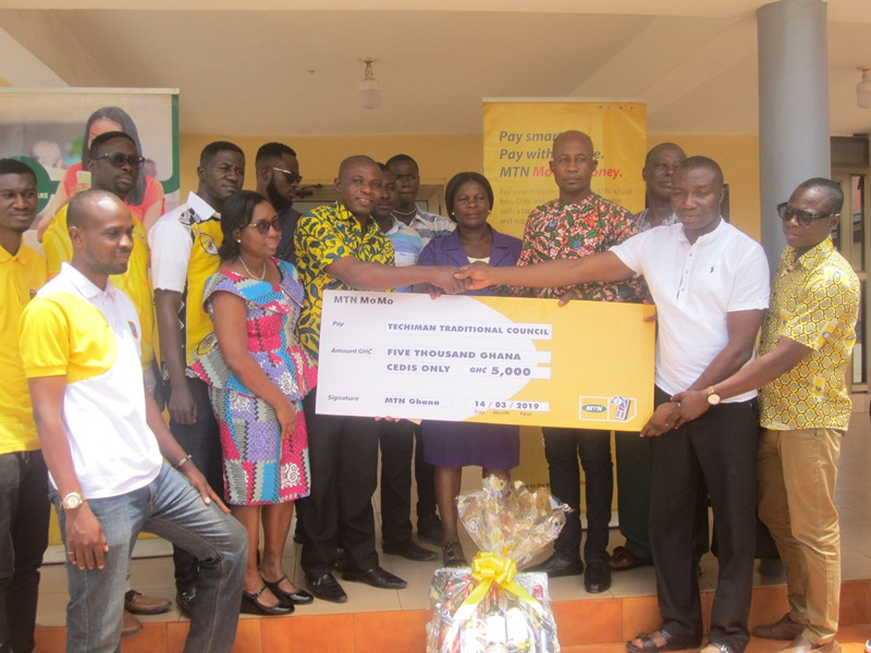 Photo of MTN Ghana Supports Techiman Traditional Council Ahead Of 2019 Apo) Festival