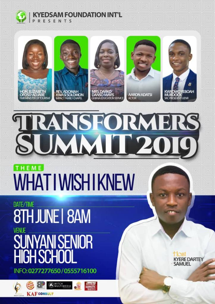 Photo of Elizabeth Ofosu-Adjare, Yolo Actor-Aaron Adatsi And Others To Speak At 2019 Transformers Summit In Sunyani