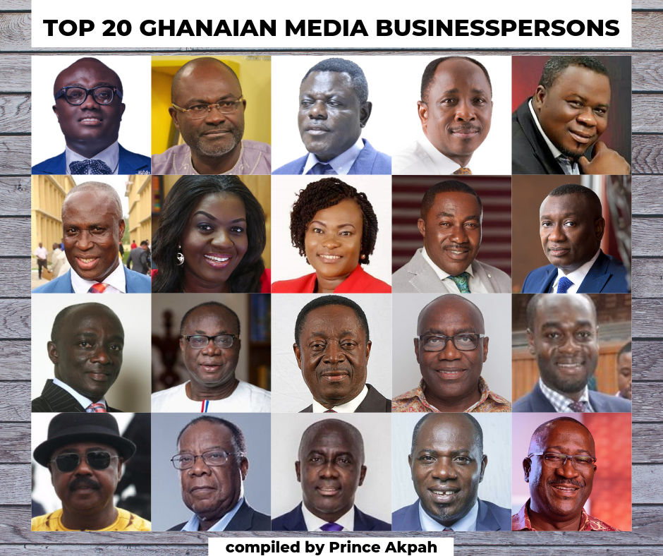 Photo of Meet The Top 20 Ghanaian Media Businesspersons