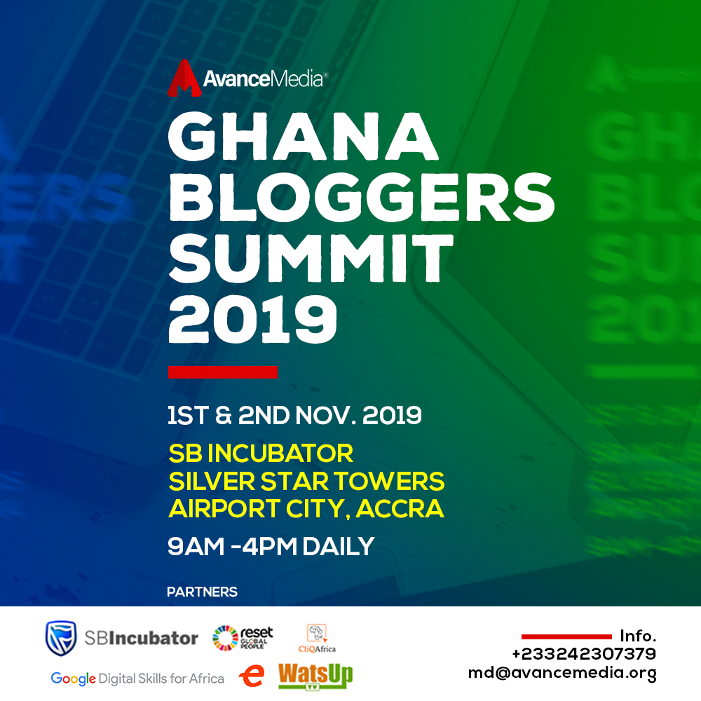 Photo of Avance Media To Host 2019 Ghana Bloggers Summit On 1st And 2nd November