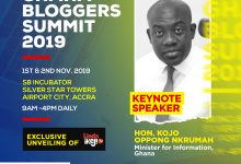 Photo of Ghana Bloggers Summit: Information Minister, Kojo Oppong Nkrumah And Linda Ikeji To Deliver Keynote Address
