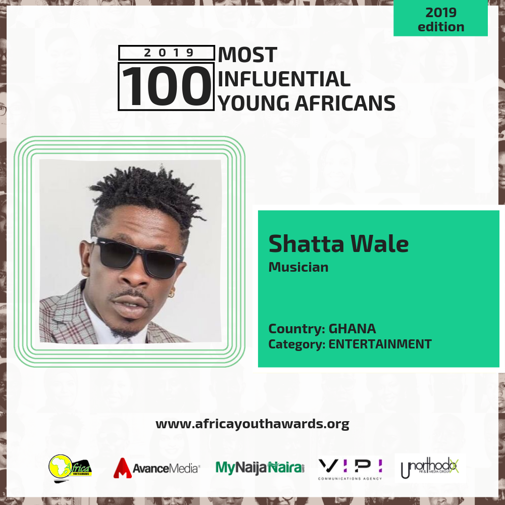 Photo of Shatta Wale, Guiltybeatz, Kojo Oppong Nkrumah Named Among 2019 100 Most Influential Young Africans
