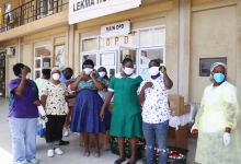 Photo of Tracey Boakye Donates Face Mask, Hand Sanitizers And Other Items To Lekma Hospital Following Coronavirus Outbreak