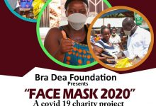 Photo of Bra Dea Foundation Calls For Support To Distribute Over 2,000 Face Masks To The Less Privileged In Bono Region