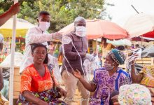 Photo of Traders At Sunyani Market Benefit From Bra Dea Foundation And Candy Supports Worldwide Face Masks Donation