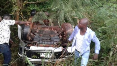 Photo of Bono NPP Regional Chairman, Abronye DC Survives A Car Accident (See Photos)