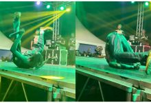 Photo of Lilwin Falls Heavily At Fameye's 'Family Concert' (Watch Video)