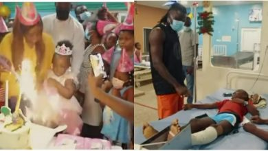 Photo of Stonebwoy Exhibits His Kind Gesture On His Daughter's 3rd Birthday; Pay Bills Of Children Admitted At 37 Military Hospital (Video)