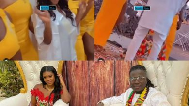 Photo of The First Public Kiss, Dance And Beautiful Bride's Maids At Wisa Greid And Annabell's Traditional Marriage Ceremony (Watch Video)
