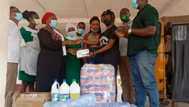Photo of Abbi Ima Donates PPE To Kintampo Municipal Hospital On Her Birthday (+Photos)