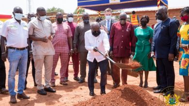 "Photo of Ghana's President, Nana Akufo-Addo Cuts Sod For Gh¢5 Million ""Ghana Award House"""