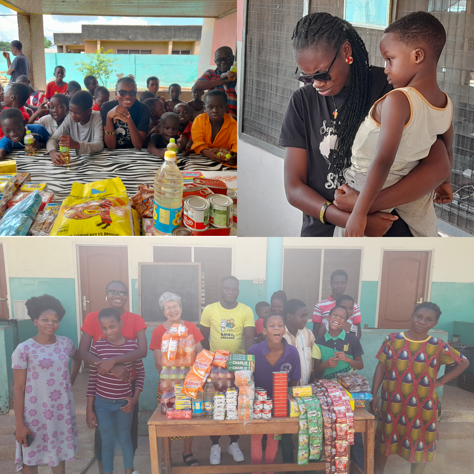 Freda Owusuaah Bioh donation to the orphans in 2021