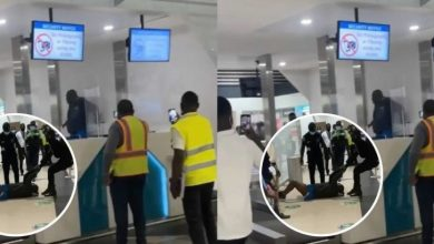 Photo of Unknown Man Goes M@d At Kotoka International Airport After Checking In; Destroys Equipment (Video)