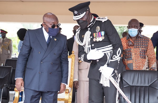 President Akufo-Addo and COP Dr George Akuffo Dampare